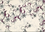 Декор Береза Керамика Азалия бордовый