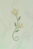 Декор Тюльпан 200х300 зеленый